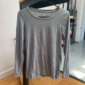Aerie Best T Long Sleeve Gray